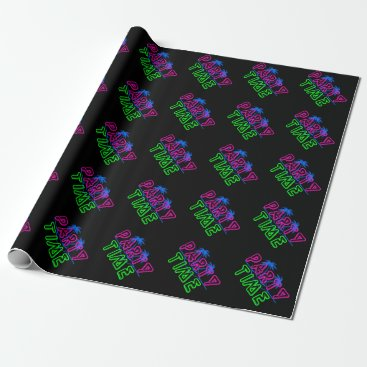 Beach Themed Party Time Wrapping Paper