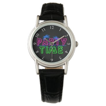 Beach Themed Party Time Wrist Watch