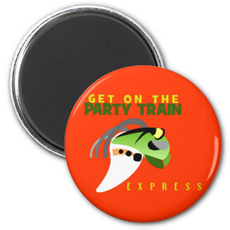 PARTY TRAIN 2 INCH ROUND MAGNET
