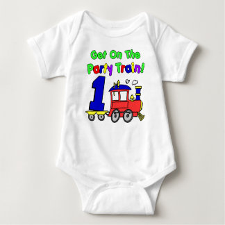 Party Train First Birthday Baby Bodysuit