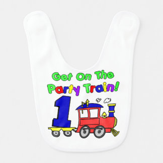 Party Train First Birthday Bib