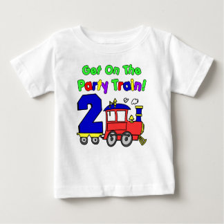 Party Train Second Birthday Baby T-Shirt