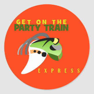 PARTY TRAIN STICKERS