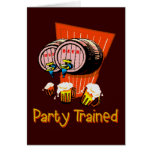 Party Trained Greeting Card