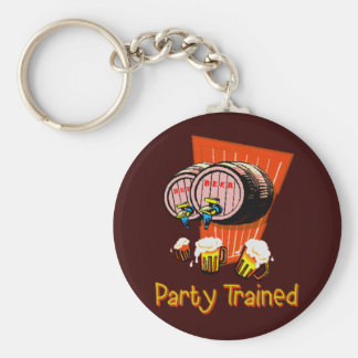 Party Trained Keychain