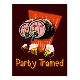 Party Trained Postcard