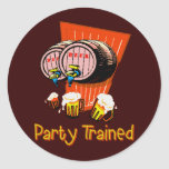 Party Trained Round Stickers