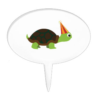 Party Turtle Cake Topper