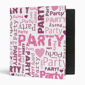 Party typography photo album binder