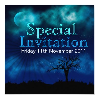 Party Under the Stars Special Invitation