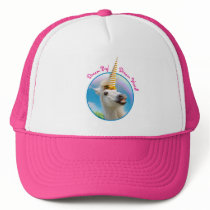 Party Unicorn Horse And Rainbow Trucker Hat