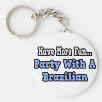 Party With A Brazilian Key Chains