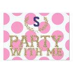 PARTY with ME Pink Love Inspired Sweet 16 5x7 Paper Invitation Card
