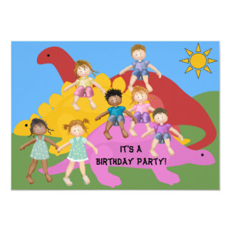 Party With The Dinos Birthday 5x7 Invitation