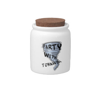 Party With Tornadoes Candy Jar