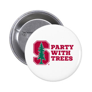 Party With Trees 2 2 Inch Round Button