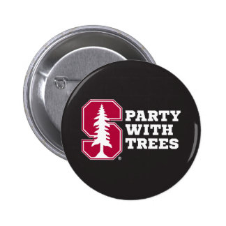 Party With Trees 3 2 Inch Round Button