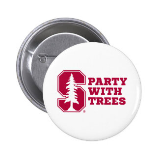 Party With Trees 4 2 Inch Round Button