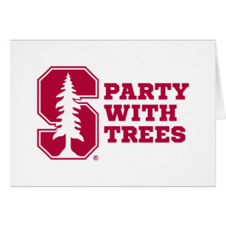 Party With Trees 4 Greeting Cards