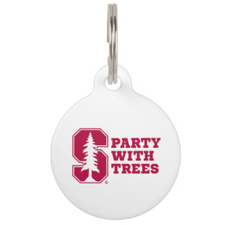 Party With Trees 4 Pet Tags