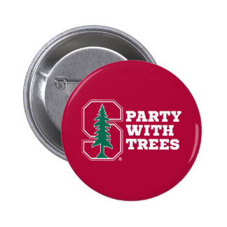 Party With Trees 2 Inch Round Button