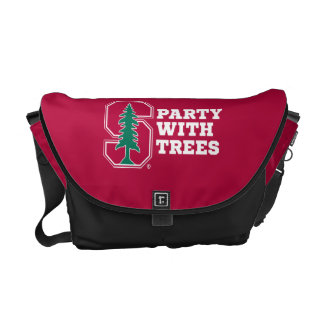 Party With Trees Messenger Bags