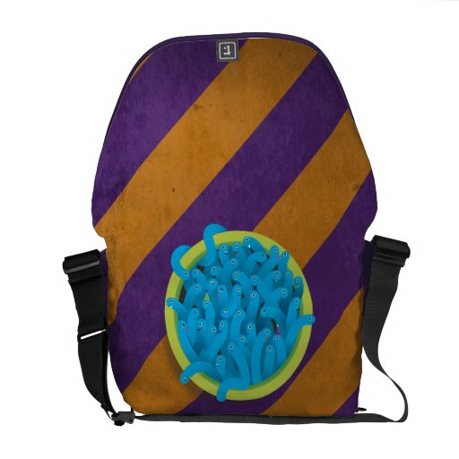 Party Worms - Blue Messenger Bags