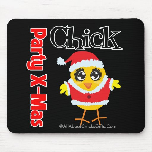 Party Xmas Chick Mouse Pad