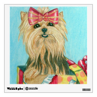 Party Yorkie Wall Sticker