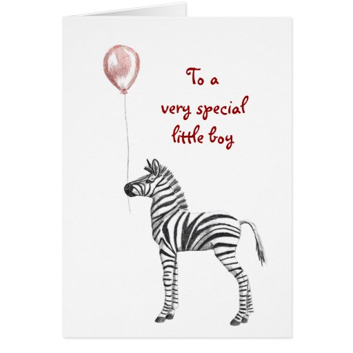 Party Zebra Boys Birthday Card