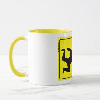 party zone  yellow sign mug