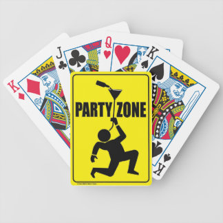 party zone yellow sign bicycle poker deck