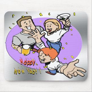 Partyers del Año Nuevo Tapete De Ratón