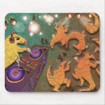 Partying pangolins mouse pad
