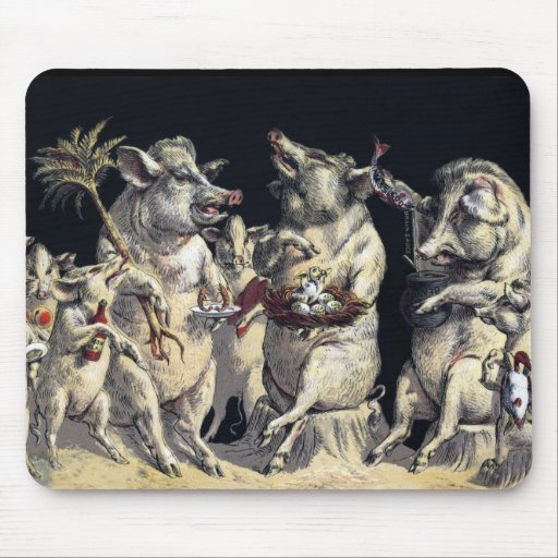 Partying Pigs Mouse Pad