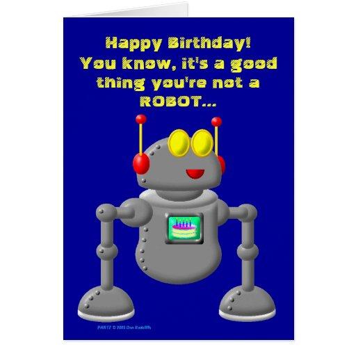 "Partz ""Happy Birthday!"" Greeting Card"