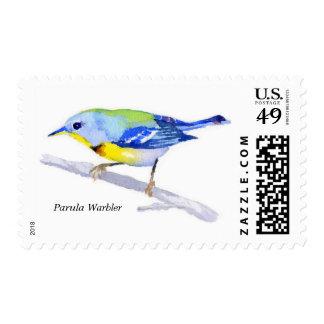 Parula Warbler Stamp