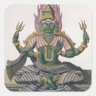 Parvati, from 'Voyage aux Indes et a la Chine' by Square Sticker