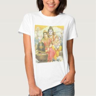 Parvati, Shiva, Ganesh T Shirts