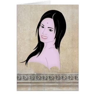 Parvati the beautifull goddess card