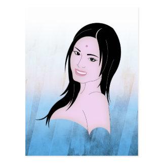 Parvati the beautifull goddess postcard