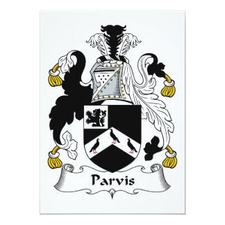 Parvis Family Crest 5x7 Paper Invitation Card