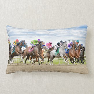 Parx Racing - Pennsylvania Derby Day Lumbar Pillow