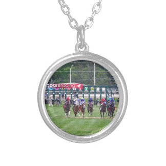 Parx Racing Silver Plated Necklace