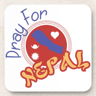 Pary For Nepal Beverage Coaster