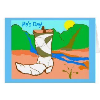 Pa's Day! Card How the West Was won