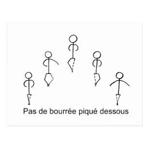 Pas De Bourree Postcard