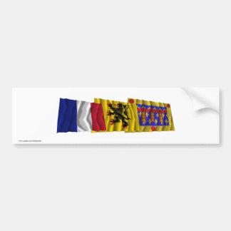 Pas-de-Calais, Nord-Pas-de-Calais & France flags Bumper Sticker