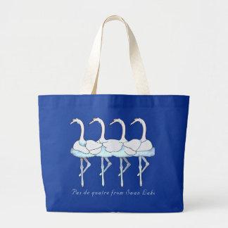 Pas de Quatre Swan Lake Tote Canvas Bags