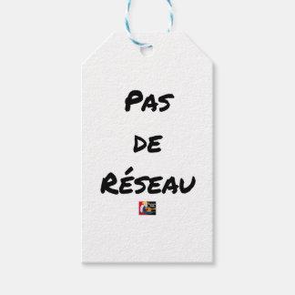 PAS DE RÉSEAU - Word games - François City Gift Tags
